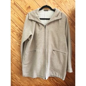 Weekend MaxMara Wool Hoodie Zip Coat